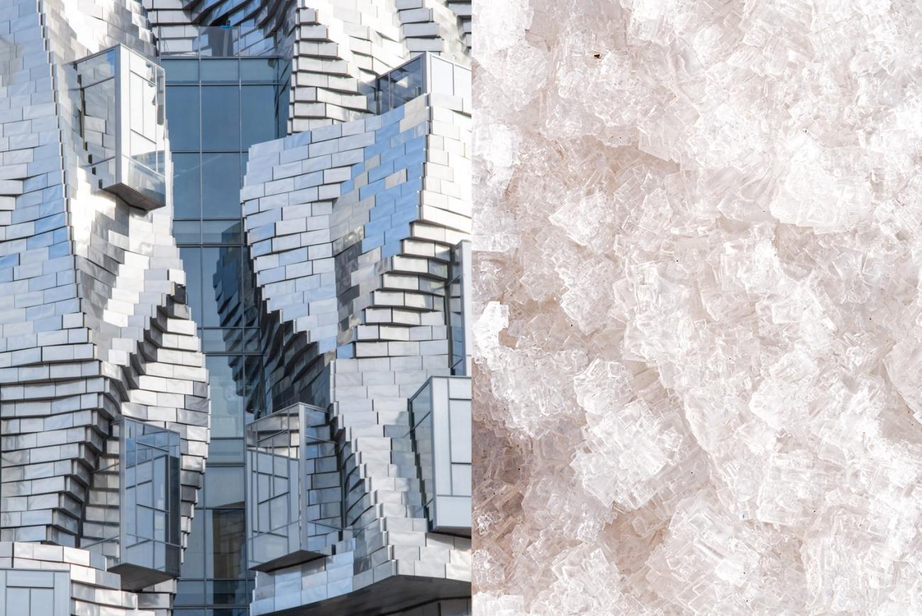 Luma salt wall in gehry tower